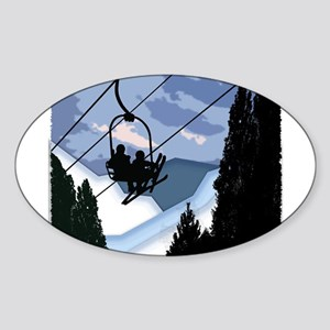 Chairlift Full of Skiers Sticker