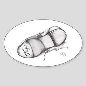 Pencil - Jazz Tap Shoe Oval Sticker