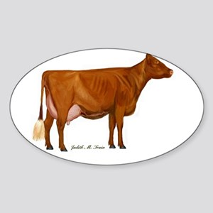 Shorthorn Trans Sticker (Oval)