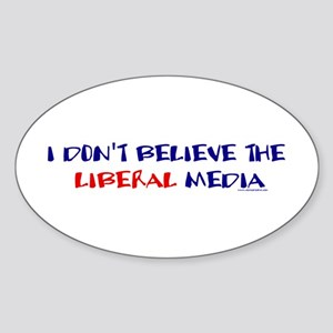 Liberal Media Oval Sticker