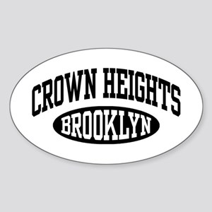 Crown Heights Brooklyn Sticker (Oval)