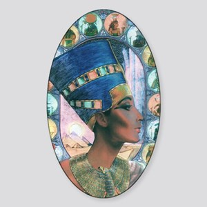 7-Nefertiti Sticker (Oval)