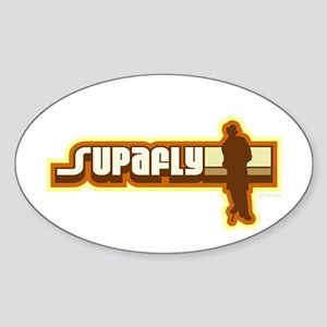 Supafly Vintage Oval Sticker