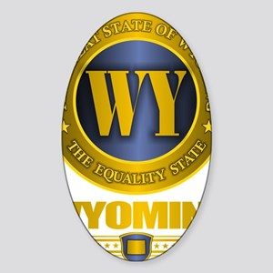 Wyoming Gold Label Sticker (Oval)
