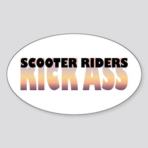 Scooter Riders Kick Ass Oval Sticker