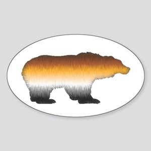 FURRY BEAR PRIDE BEAR CUTOUT Oval Sticker
