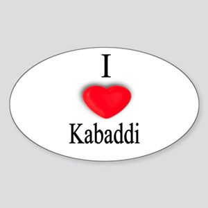 Kabaddi Oval Sticker