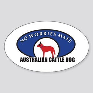 Red Dog Wear Sticker (Oval)