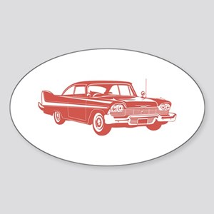1958 Plymouth Fury Oval Sticker
