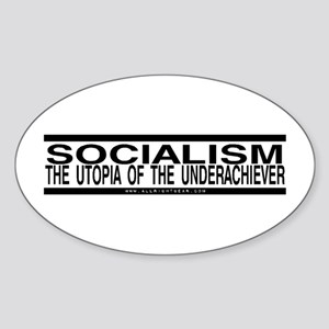 Socialism Utopia Oval Sticker