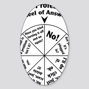 IT Professional Wheel of Answers Sticker (Oval)