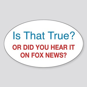 Anti Fox News Sticker (Oval)