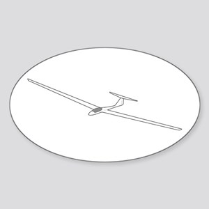 Sailplane Oval Sticker