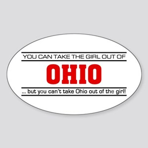 'Girl From Ohio' Sticker (Oval)