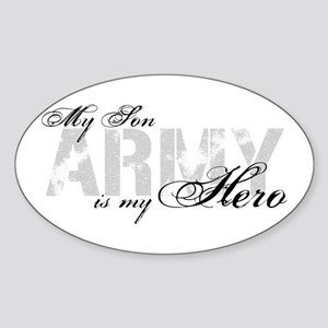 Son is my Hero ARMY Oval Sticker