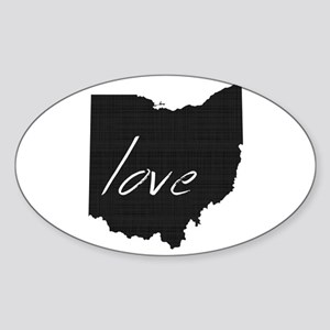 Love Ohio Sticker (Oval)