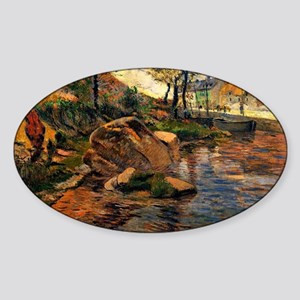 Gauguin: Cove Opposite Pont Aven Ha Sticker (Oval)
