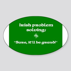 Irishproblemsolvingcafe Sticker (Oval)