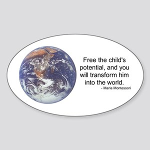 Montessori World - Potential Oval Sticker