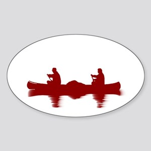 RED CANOE Sticker (Oval)