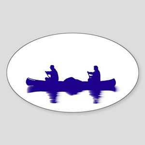 BLUE CANOE Sticker (Oval)