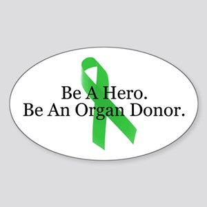 Bold Organ Donor Oval Sticker