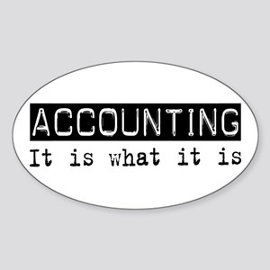 Accounting Is Oval Sticker