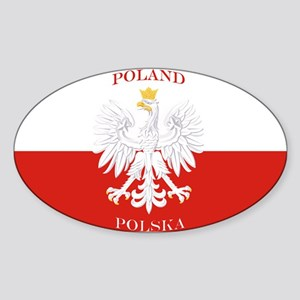 Poland Polska White Eagle Flag Sticker