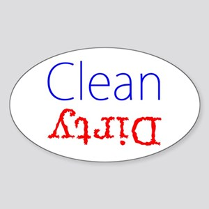 Clean Dirty Dishwasher Red Blue Becky's Fa Sticker