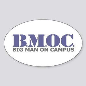 BMOC (Big Man On Campus) Oval Sticker