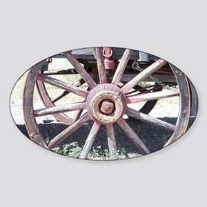 Wagon Wheel Sticker (Oval)