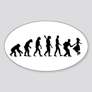 Evolution swing dance Sticker (Oval)