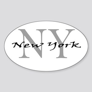 New York thru NY Oval Sticker