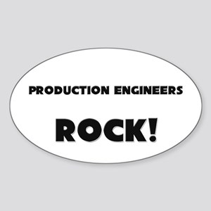 Production Engineers ROCK Oval Sticker