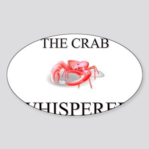 The Crab Whisperer Oval Sticker