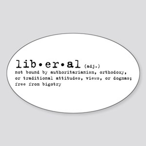 Liberal By Definition Oval Sticker