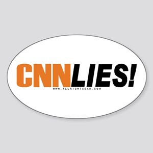 CNN Lies Oval Sticker