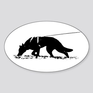 shepherd tracker Sticker (Oval)