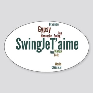 Swing Je T'aime (general) Sticker (Oval)