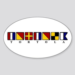 Nautical Tortola Sticker (Oval)