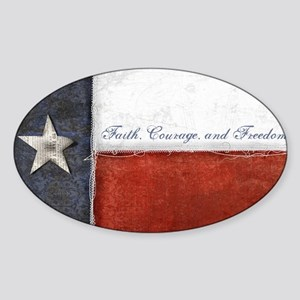 Texas Flag Sticker (Oval)