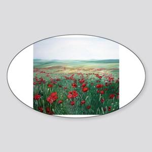 poppy poppies art Rectangle Sticker