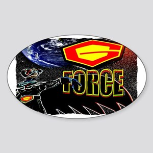 g force Sticker (Oval)