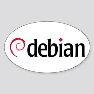 Debian Oval Sticker