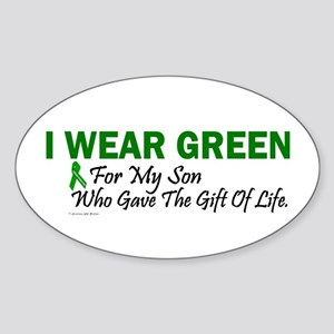 Green For Son Organ Donor Donation Sticker (Oval)