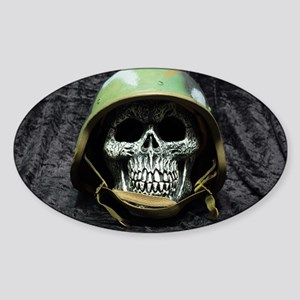 Army skull Sticker (Oval)