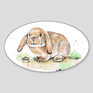 Watercolor Bunny Sticker