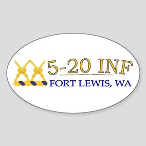 1st Bn 20th Infantry Sticker (Oval)