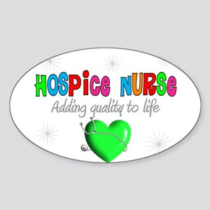 HOSPICE Sticker (Oval)