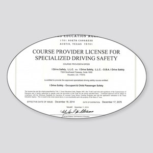 Driving Certificate Sticker